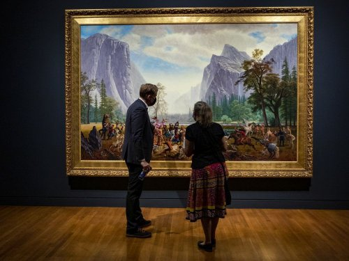 Rembrandt masterpiece shares space with Monkman's Miss Chief