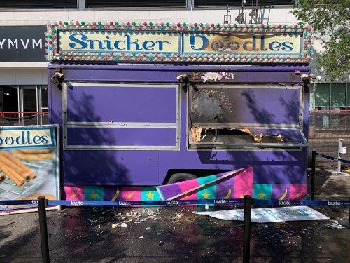 Taste of Edmonton vendor trailer fire sends one person to hospital