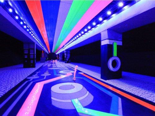 Cambie Bridge turning into digital-analogue world of Voxel Bridge