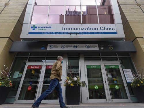 Calgary mass-immunization hub sees paltry turnout for AstraZeneca jabs, prompting questions about expanded eligibility
