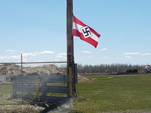 'It is extremely disturbing': Nazi flag seen flying on second rural Alberta property in a week