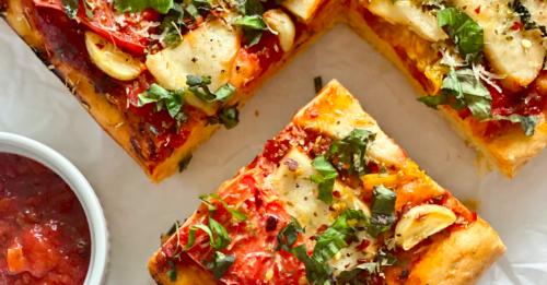 Focaccia Pizza [Vegan]