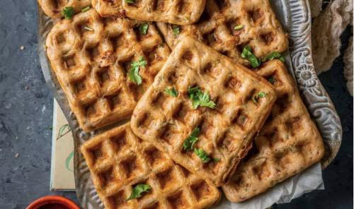 Savory Dosa Waffles [Vegan]