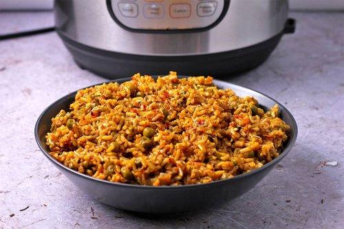 Instant Pot Vegetable Curry Rice [Vegan]