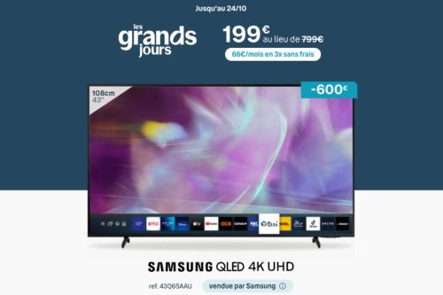 Grâce à la Bbox, cette Smart TV Samsung 4K est à prix sacrifié
