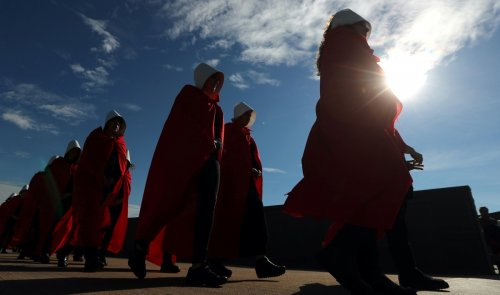 The red cloak of 'The Handmaid's Tale' is becoming a symbol for reproductive rights