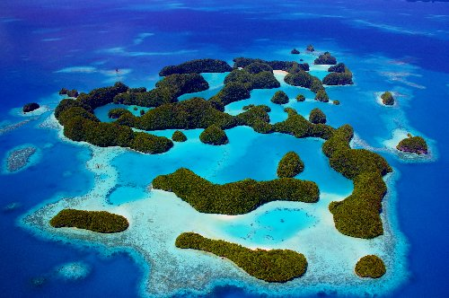 Conservationists are trying to protect the ocean waters around Palau, a small island nation in the South Pacific due east of the Philippines. The waters are recognized as one of the seven underwater wonders of the world, with more than 1,300 species of fi