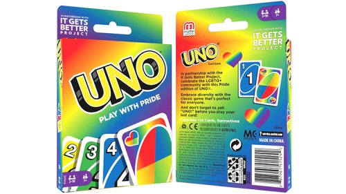 Uno Launches Pride-Themed Deck, Donates $50k to It Gets Better Project