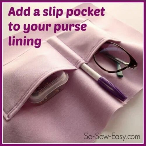 Sew The Perfect Slip Pocket For Your Bag