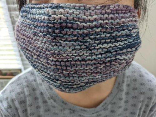 Scrap Yarn Knit Face Mask Pattern