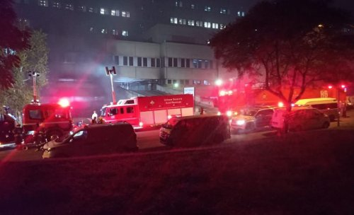 3rd floor parking collapses as Charlotte Maxeke Hospital blaze continues
