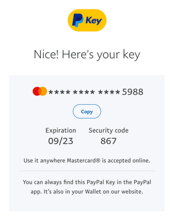 PayPal Now Offers Virtual Card Numbers