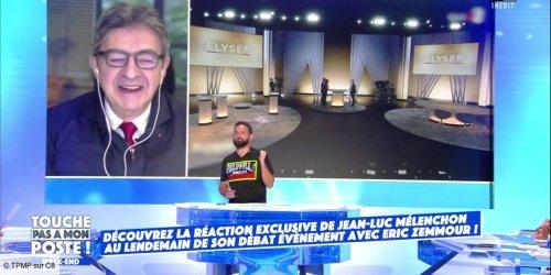 """""""Ils ont pris une belle taule"""" : Jean-Luc Mélenchon étrille Elysée 2022, l'émission politique de France 2, dans TPMP (VIDEO)"""