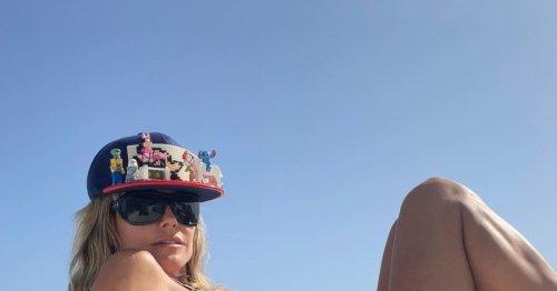 Hot: Heidi Klum po-siert im knappen Bikini