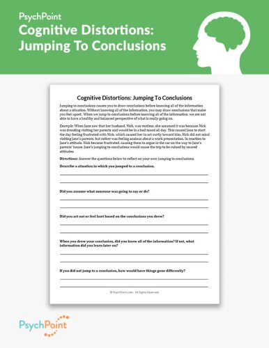 Cognitive Distortions: Jumping To Conclusions