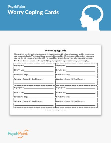 Worry Coping Cards Worksheet