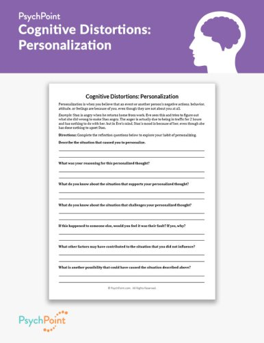 Cognitive Distortions: Personalization Worksheet