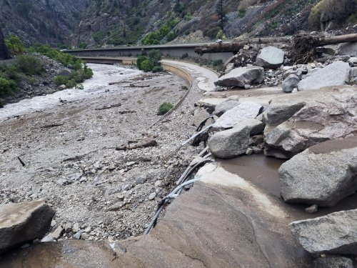 Mudslides, Worsened By Climate Change, Shut Down A Vital Colorado Highway