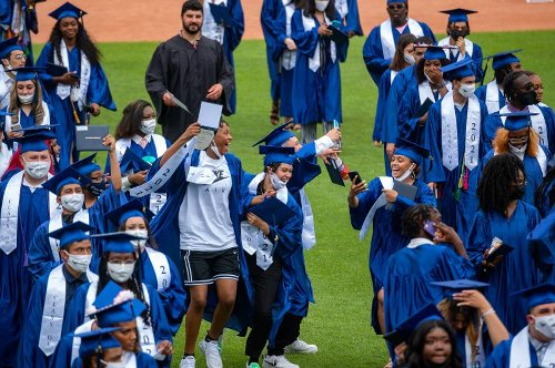 After A Difficult Year, Some Hartford High Graduates Walk The Stage With A Little Extra Help