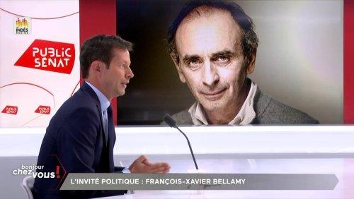 François-Xavier Bellamy ne ferme pas la porte à la participation d'Éric Zemmour au congrès LR