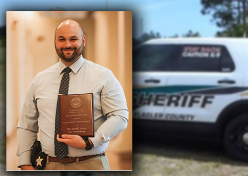 Flagler County Sheriff's Deputy First Class LaVerne Presented with Distinguished Victim Services Award