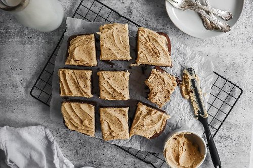 Espresso Brownies with Coffee Frosting - Specialty Coffee Blog - Pull & Pour