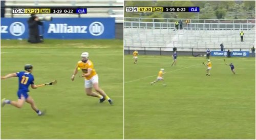 Here is Neil McManus' sensational late point from own half which sealed Antrim's victory