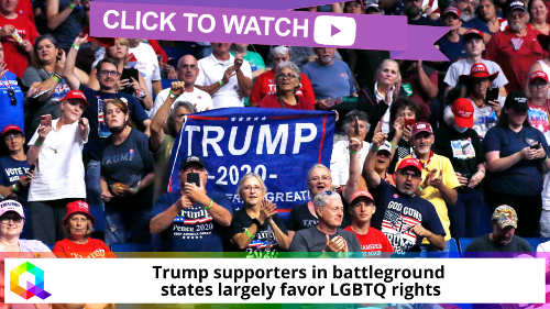 Trump supporters in battleground states largely favor LGBTQ rights