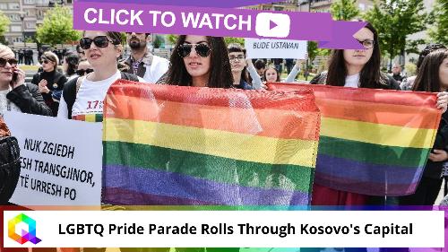LGBTQ Pride Parade Rolls Through Kosovo's Capital