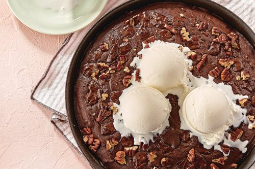 Double Chocolate Skillet Brownie   Canadian Living