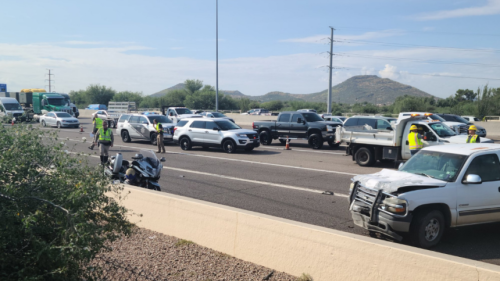 One dead in three-vehicle collision on I-10 at Grant Rd