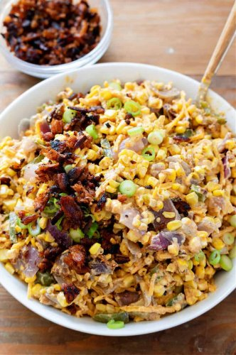 Vegan Jalapeno Popper Corn Salad - Rabbit and Wolves
