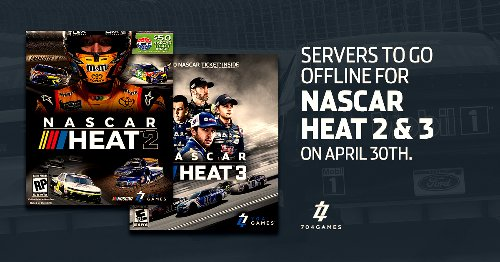 NASCAR Heat 2 and 3 Servers Going Offline