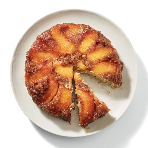 Black Tea + Peaches = Most Delicious Upside-Down Cake Ever