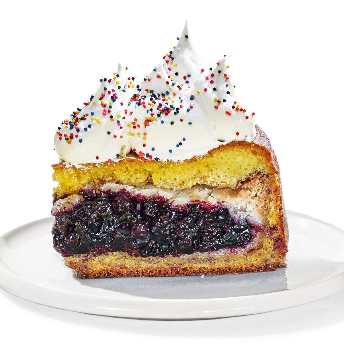 Blueberry Pie-Caken