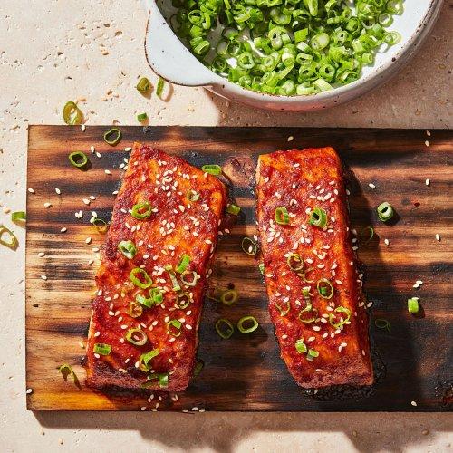 Thai Chili-Glazed Cedar-Plank Salmon