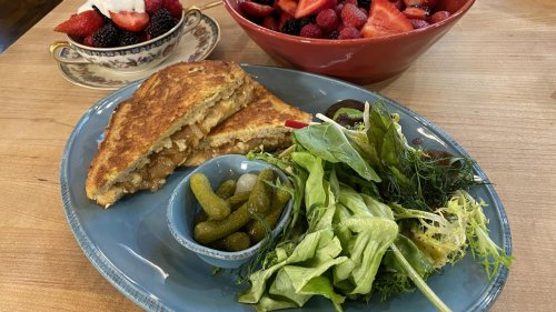 How To Make French Onion Monte Cristo with Spring Greens Salad | Rachael Ray