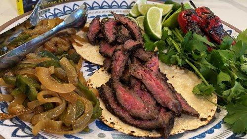 How To Make Perfectly Charred Carne Asada Tacos with Avocado Crema   Jeff Mauro