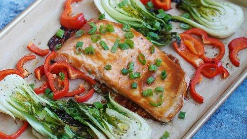 Teriyaki Salmon & Baby Bok Choy | Healthy Sheet Pan Dinner | Chef Ronnie Woo