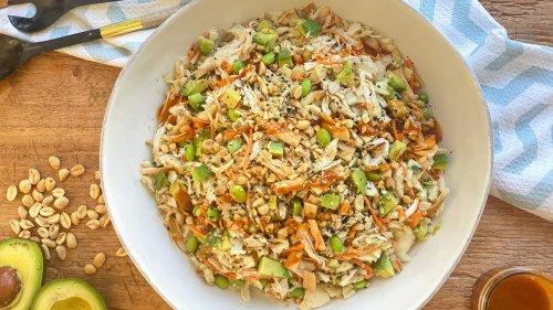 Fast, Flavorful + Healthy: Thai Crunch Salad With Peanut Dressing