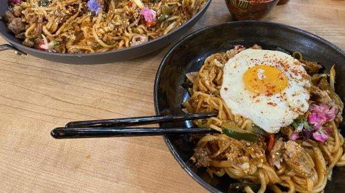 Rach's Korean Gochujang Noodles With Pork + Veggies