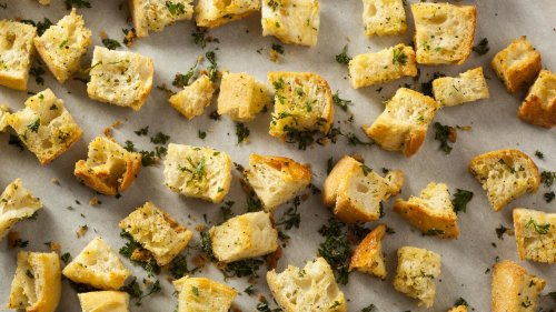 Rach's Easy Cheesy Baked Croutons