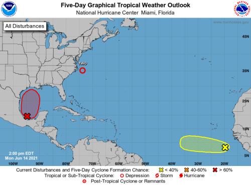 Tropical low now has 70% chance of development as it drifts toward Gulf coast