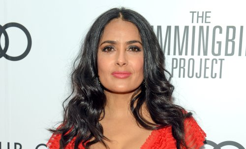 Salma Hayek, 54, looks stunning in polka dots at the premiere of 'The Hitman's Wife's Bodyguard'