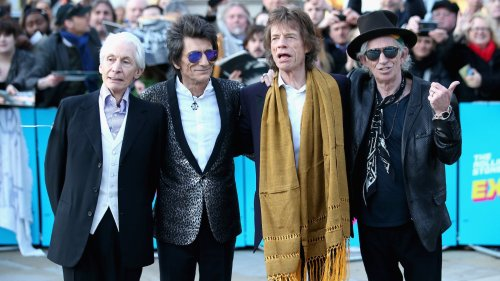 The Rolling Stones darken their iconic logo in honor of Charlie Watts