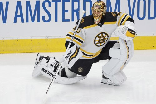 Tuukka Rask responds to questions about his future after Bruins' Game 1 loss