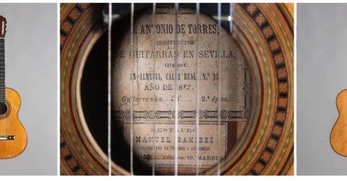 Une guitare inédite d'Antonio de Torres, le « Stradivarius de la guitare » mise en vente à Vichy