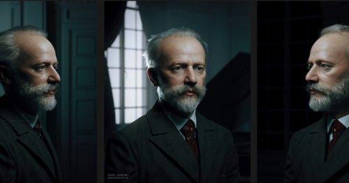 Tchaïkovski, le dernier portrait en 3D de l'artiste Hadi Karimi