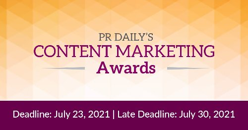 Share your powerful stories! Enter our Content Marketing Awards.