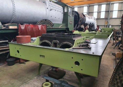 Engineering update on GER Holden F5 steam locomotive 789